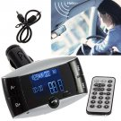 LCD Car Kit Bluetooth MP3 Player MMC USB Remote FM Transmitter Modulator