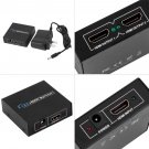 HDMI Splitter 1 Input 2 Output Amplifier Switch Box Hub 1x2 HDTV 1080p 3D