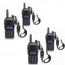 4x Baofeng UV 82L V UHF Dual Band Dual PTT Handheld Two way Radio FM Transceiver