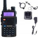Baofeng UV 5R Black Dual Band UHF VHF Two Way Ham FM Radio Free Earpiece OH