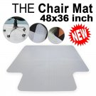 47x 36 Clear PVC Home Office Chair Floor Mat for Hard Wood Tile Protector OUY