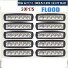 20x 6 Led Work Light 18W Spot Fog Driving Lamp 4WD Offroad Suv Boat Truck OY