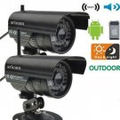 2PCs IP Camera IOS Outdoor Waterproof Security System Wired CCTV WIFI Night Y