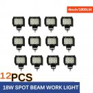 12 x 4 18W LED Work Light Bar Driving Spot Lamp Offroad SUV ATV Truck UTE