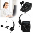 Business Call Center Dialpad Headset Telephone with Tone Dial Key Pad Redial