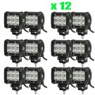 12X 4inch Cree Pods 18W Spot Led Work Light Offroad Bumper Boat ATV Jeep OY