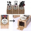 Cute Dog Model Stealing Piggy Bank Money Coin Electronic Saving Box white