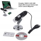 2MP 1000X 8LED USB 2.0 Digital Microscope Endoscope Zoom Camera Magnifier Stands