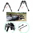 Hunting Rifle Bipod 6 to 9 Adjustable Spring Return Sniper Sling Swivel Mount