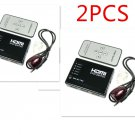2X 5 Port HDMI Switcher Selector Splitter With Remote 1080p for HDTV PS3