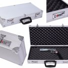 ALUMINUM HANDGUN BOX Double Case Storage Code Locking FRAMED Pistol Hard Carry