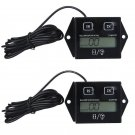 3XWaterproof Hour Meter Tachometer 2 & 4 Stroke Small Engine Spark For Boat ATVY