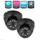 2pcs 1 3 1200TVL CMOS IR CUT CCTV Security Camera Dome Video Wide Angle24LED