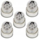 5X Adjustable LED Motion Light Activated Sensor Indoor Outdoor Cordless Patio