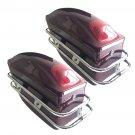 Motorcycle Hard Saddlebag Trunk Bag Luggage Tail Light Chrome Rail Bracket OY