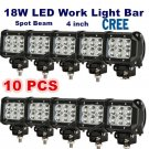 10X 18W LED WORK LIGHT BAR SPOT DRIVING LAMP OFFROAD 4WD SUV BOAT UTE OB