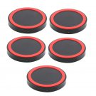 5x Universal Qi Wireless Power Charging Charger Pad For Mobile Cell Phone Red