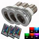 Lot3 5W Home Safe Spot Light Bulb Lamp Color Changing RGB Remote Control E27