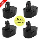 4x Extended 3.0AH 14.4 Volt DC9091 DW9091 DW9094 Battery for DEWALT Tools BY