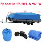 600D 17  20 ft Waterproof Heavy Duty Fabric Trailerable Pontoon Boat Cover OU
