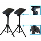 2pcs Adjustable Height Tattoo Tripod Stand Metal Bracket Arm Leg rest Pad OY