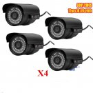 4X 1200TVL HD 6mm Lens IR Night Vision Outdoor Waterproof CCTV Security Camera