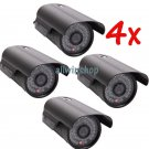 4x 1200TVL HD 6mm Lens IR Night Vision Outdoor Waterproof CCTV Security Camera Y