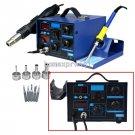 2in1 862D Soldering Rework Station Hot Air Gun Solder Iron Welder ESD Nozzles Y