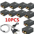 10 Digital Optical Coaxial Toslink Signal Analog Audio L R RCA Converter Adapter
