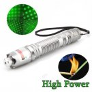 Green Laser Pointer Pen 5 miles Rang 532nm Burning Beam Light Lazer sliver Shell