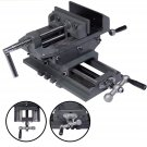 5 Cross Drill Press Vise 2Way X-Y Slide Metal Milling Clamp Machine Heavy DutyS