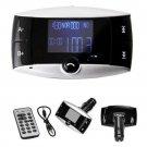 LCD Bluetooth FM Transmitter Car Kit MP3 Player Modulator MMC USB Remote