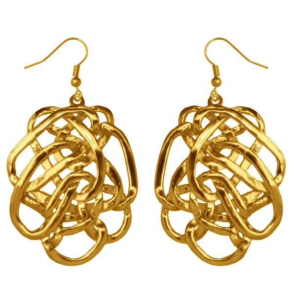 Dangle Earrings JULIETTE, Overlapping Oval Rings, Karine Sultan