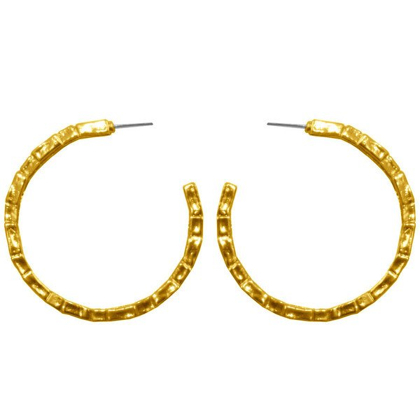 Earrings ALINE, large half hoops, Karine Sultan