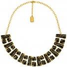 Necklace LOUISY, Modern Black Enamel Geometric Choker, Karine Sultan