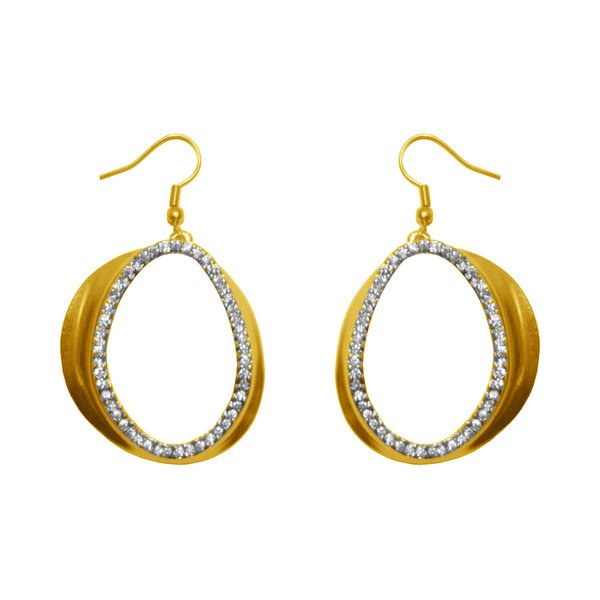 Dangle earrings CHLOE,  Oval Cut-Out, Karine Sultan