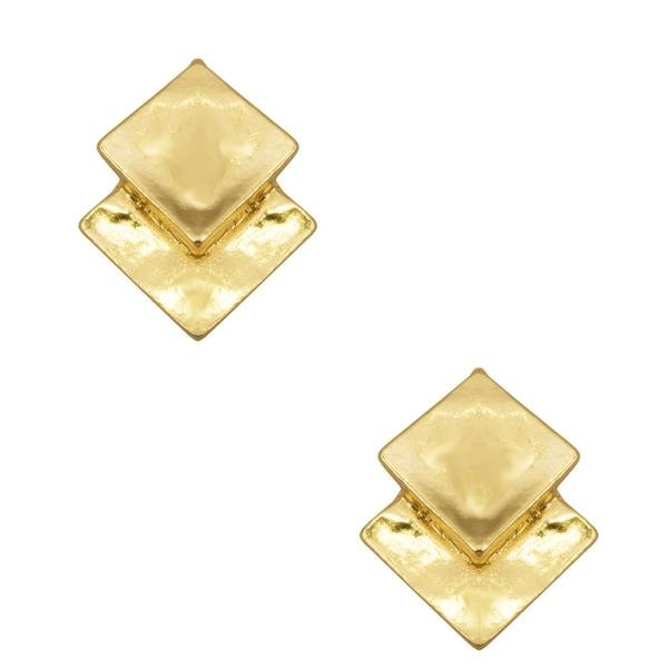The Chantal Textured Double Square Stud Earrings