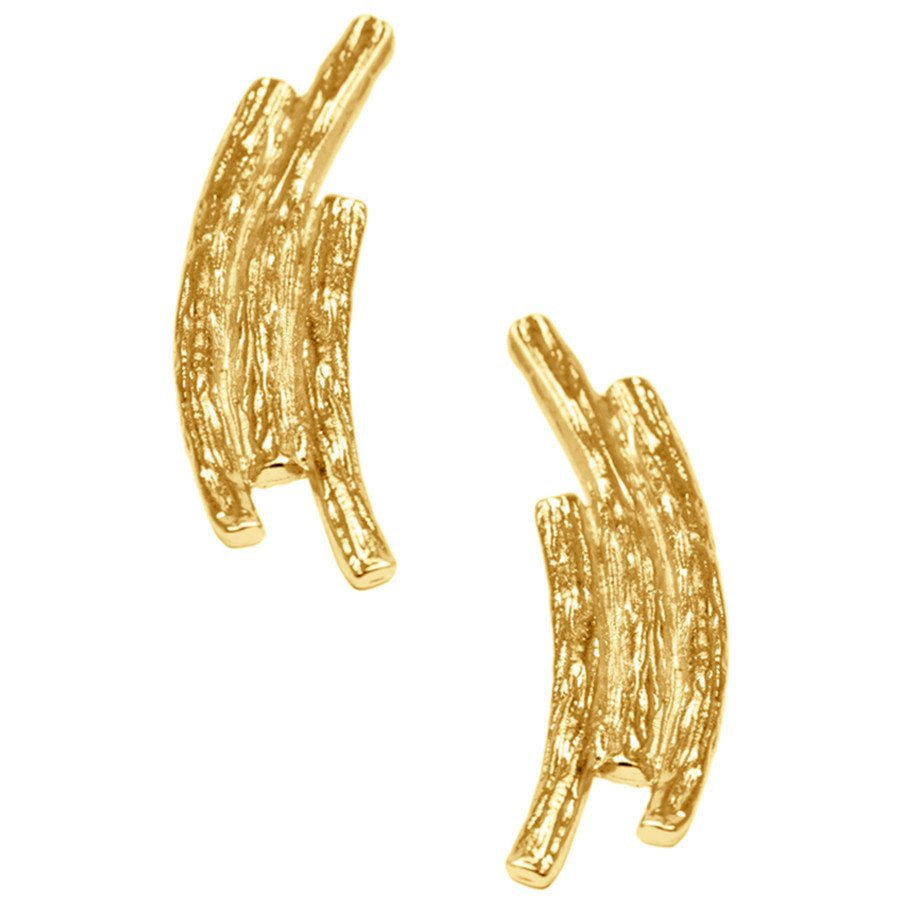 The Abella Gold Polished Abstract Earrings