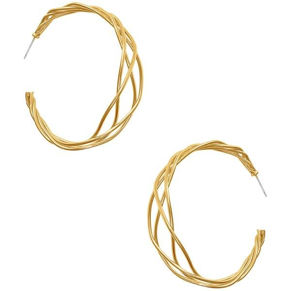 The Naya Braided Hoop Earrings, Gold Hoop Earrings