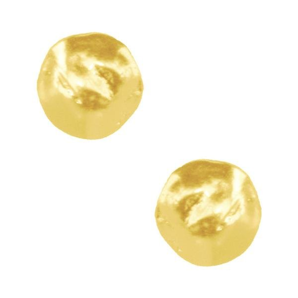 The Eva Large Hammered Shell Disc Clip-On Earrings
