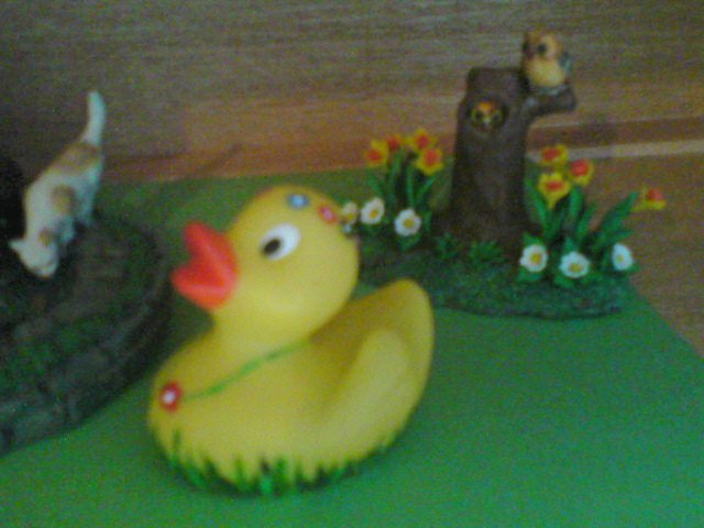 Flower hand painted Rubber Duck