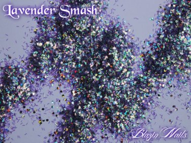 'lavender smash' glitter mix