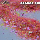 'orange sherbet' glitter mix