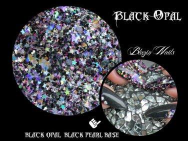 'black opal' glitter mix