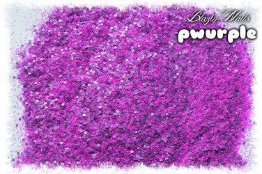 'pwurple' glitter mix