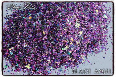 'peace angel' glitter mix