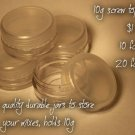 10g screw top jars EACH