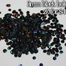 2g bag of black holographic discs