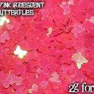 2g iridescent pink butterflies