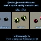 GENUINE SWAROVSKI CRYSTALS SS5 BLACK DIAMOND- 100P